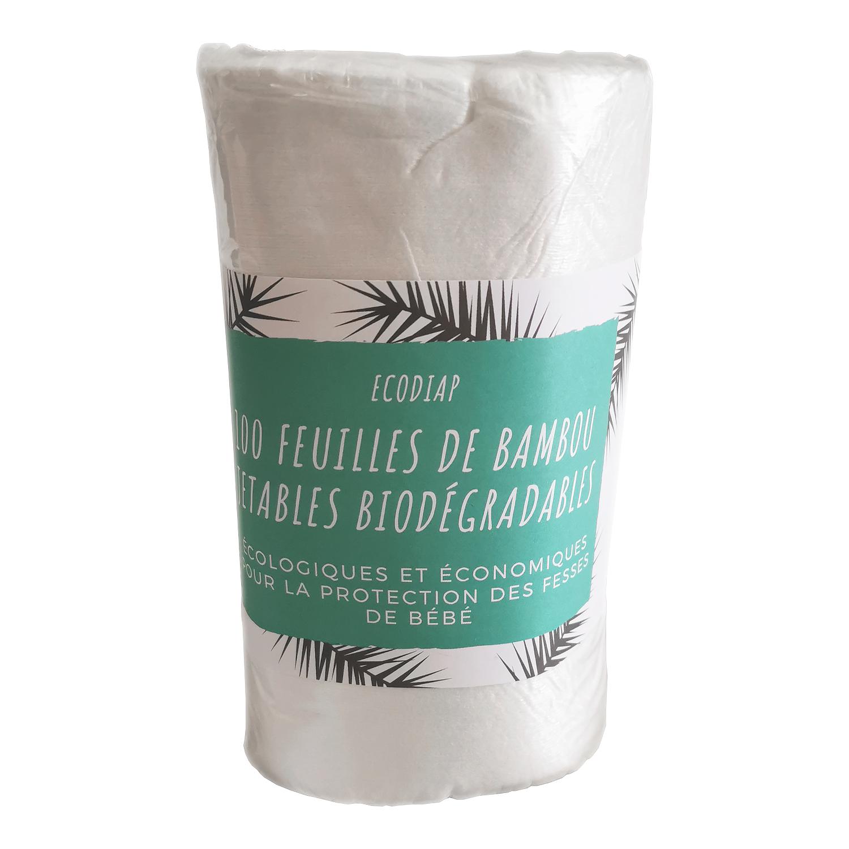 ecodiap100 cent feuilles de bambou jetables bio dégradable ecologiques et economiques