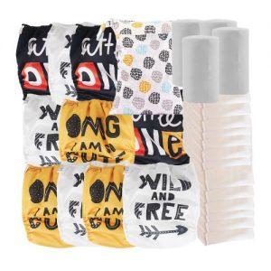mega pack couche lavable évolutive lot de 10 couches inserts lavable voile sac a couche